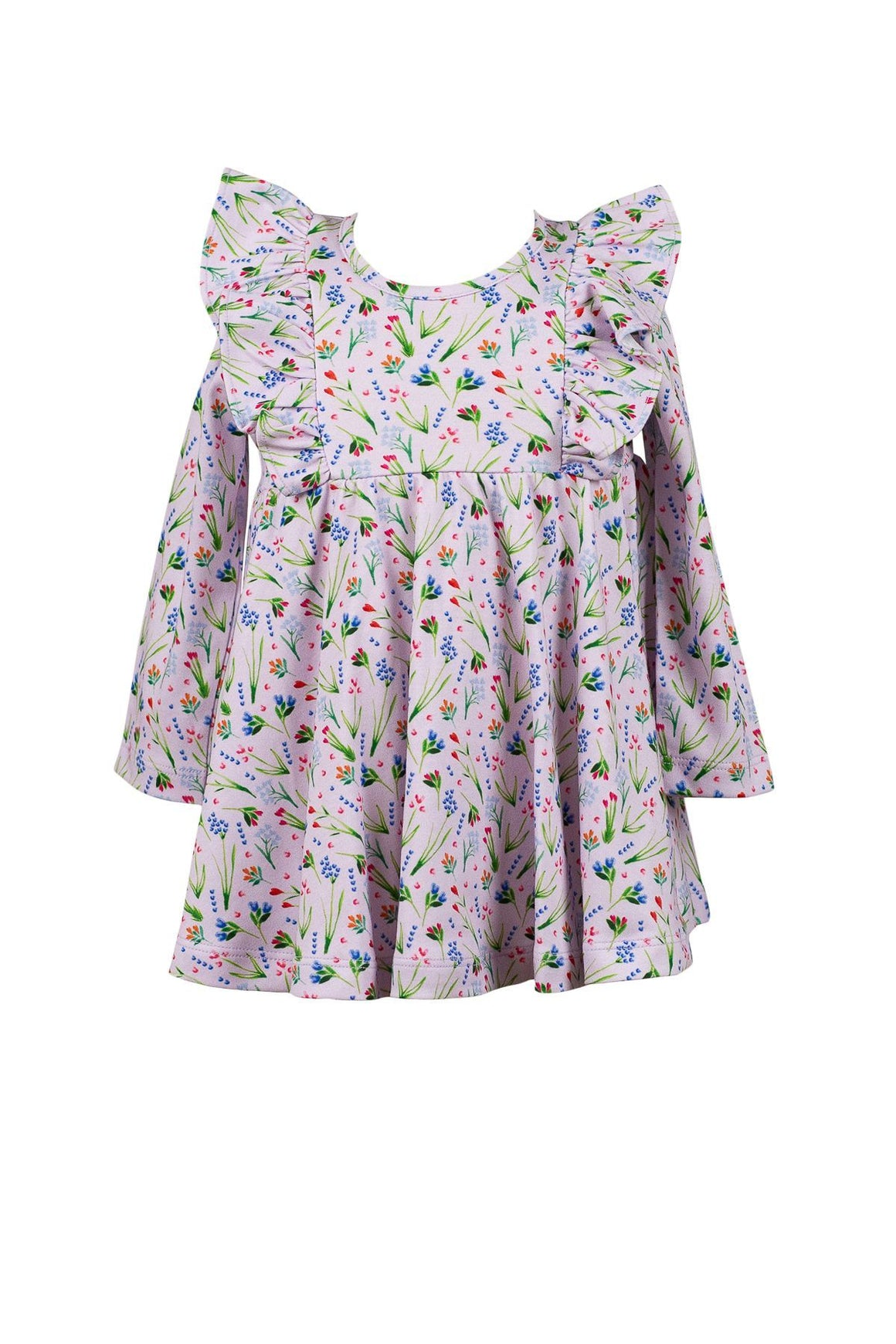 The Proper Peony Apparel The Proper Peony Parkside Collecton Finley Floral Lavender Twirl Dress