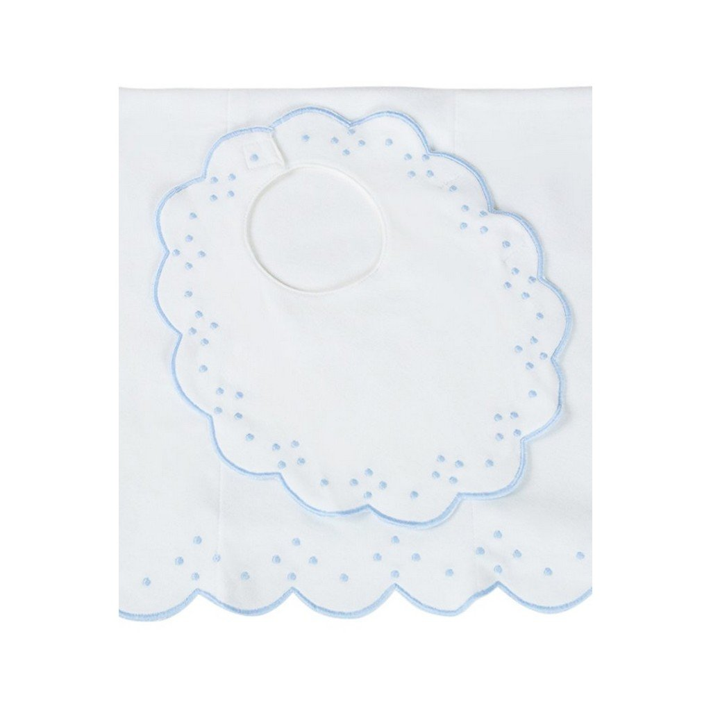 The Proper Peony Baby Care The Proper Peony Scalloped Bib and Burp Set