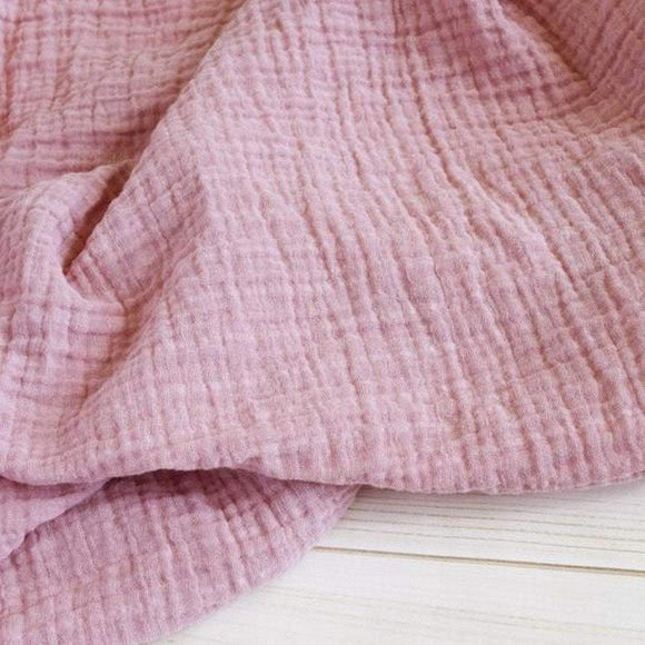 The Sugar House Gifts & Apparel The Sugar House Classic Muslin Swaddle Blanket Blush Pink
