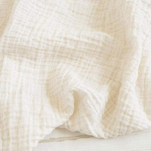 The Sugar House Gifts & Apparel The Sugar House Classic Muslin Swaddle Blanket Ivory