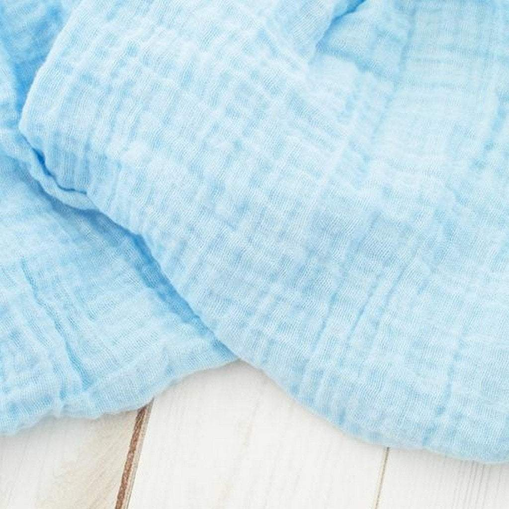 The Sugar House Gifts & Apparel The Sugar House Classic Muslin Swaddle Blanket Sky Blue