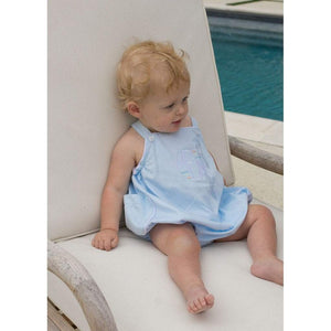 Thread Heirloom Infant Apparel 6 M / Blue Thread Heirloom Blue Pique Bubble