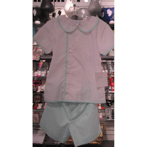 Thread Heirloom Boys Apparel 3T / Mint Thread Heirloom Mint Pique Short Set