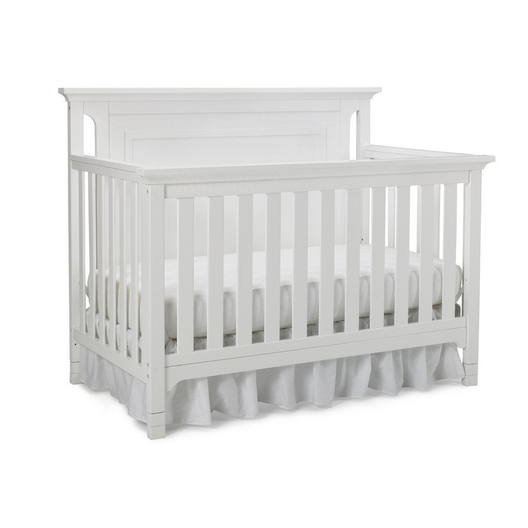 Ti Amo Carino Convertible Baby Crib Snow White-Furniture-Babysupermarket