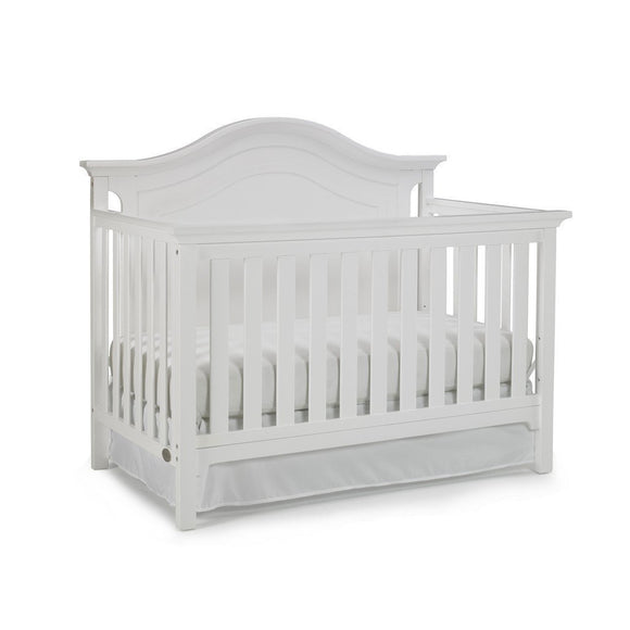 Ti Amo Catania Convertible Baby Crib Snow WhiteFurnitureBabysupermarket