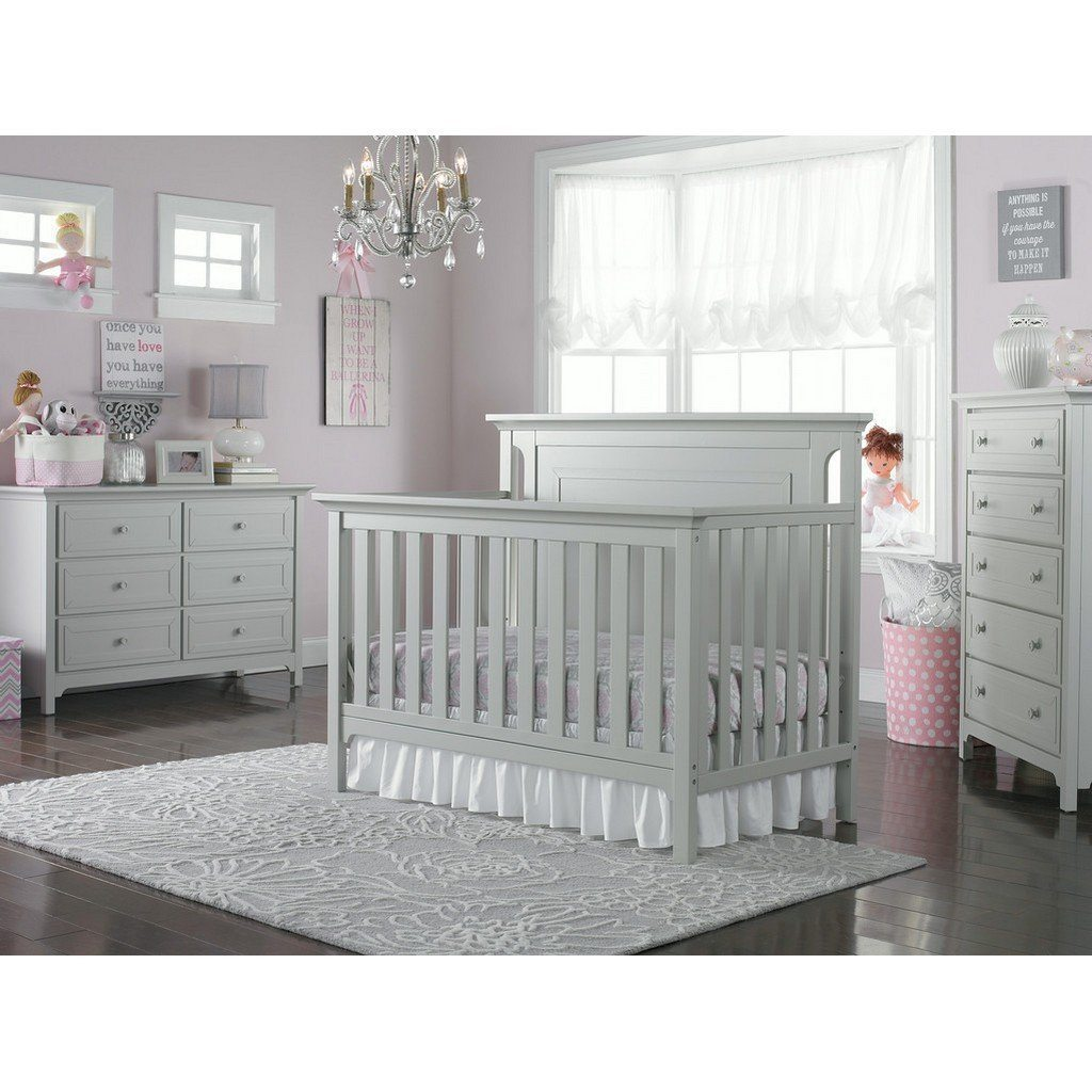 Ti Amo Carino Convertible Baby Crib Misty Grey-Furniture-Babysupermarket