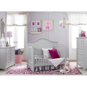 Ti Amo Catania Convertible Baby Crib Misty Grey-Furniture-Babysupermarket