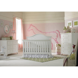 Ti Amo Catania Convertible Baby Crib Snow White-Furniture-Babysupermarket