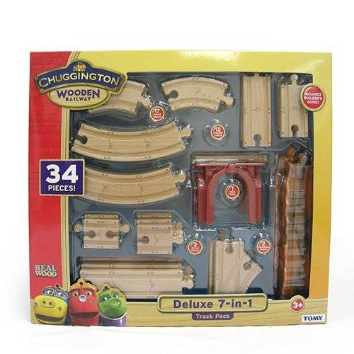 TOMY Toys Chuggington Wooden Railway 7 in 1 Train Pack