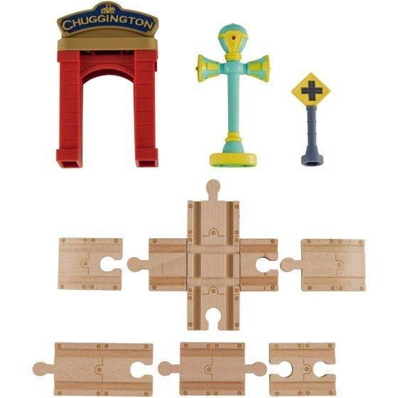 Chuggington Wooden Railway Track Accessory Pack with Vee-Toys-Babysupermarket