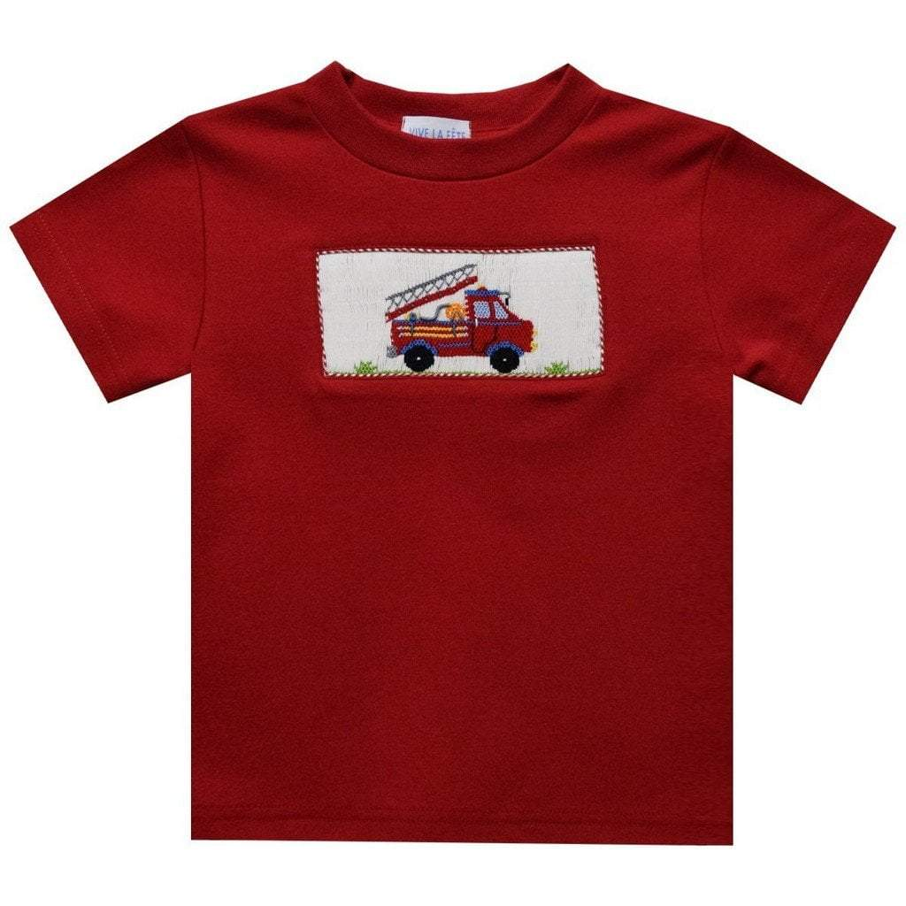 Vive La Fete Apparel 2 Toddler / Red Vive La Fete Boys Firetruck T-Shirt