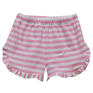 Vive La Fete Apparel 2 Toddler / Pink Stripe Vive La Fete Pink Stripes Knit Girl Ruffle Short