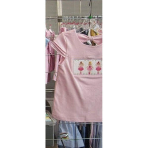 Vive La Fete Toddler Girl Apparel 2T / Pink Vive Le Fete Ballerina Girl's Smocked Shirt