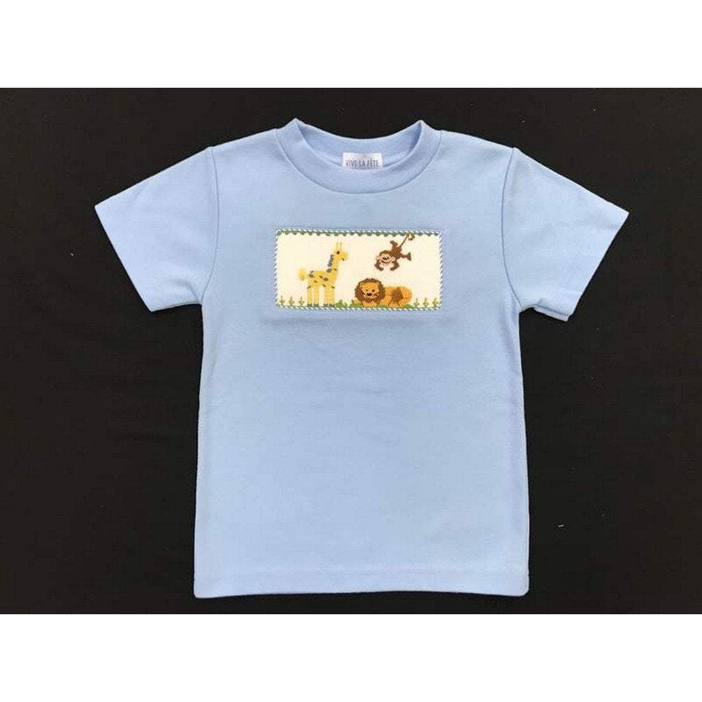Vive La Fete Toddler Boy Apparel 2T / Light Blue Vive Le Fete Zoo Boy's Shirt