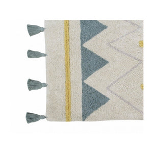 Lorena Canals Nursery Décor Washable Rug by Lorena Canals Azteca Natural Vintage Blue
