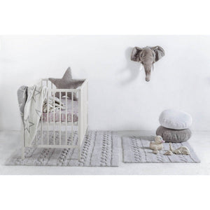 Lorena Canals Nursery Décor Washable Rug by Lorena Canals Braids Pearl Grey