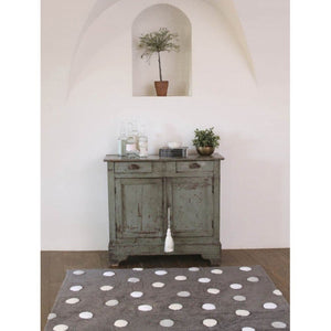 Lorena Canals Nursery Décor Washable Rug by Lorena Canals Polka Dots Grey and White