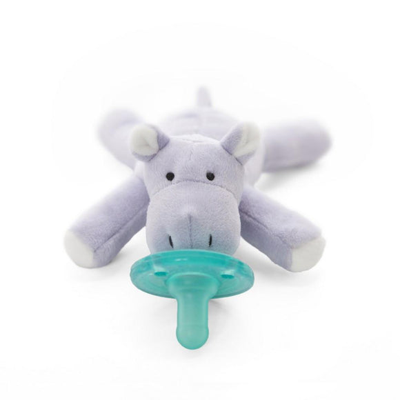 WubbaNub Pacifier Holder Baby Hippo-Baby Care-Babysupermarket