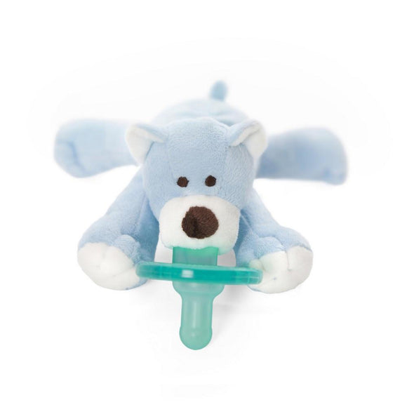 WubbaNub Pacifier Holder Blue Bear-Baby Care-Babysupermarket