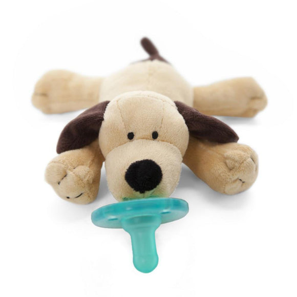 WubbaNub Pacifier Holder Brown Puppy-Baby Care-Babysupermarket