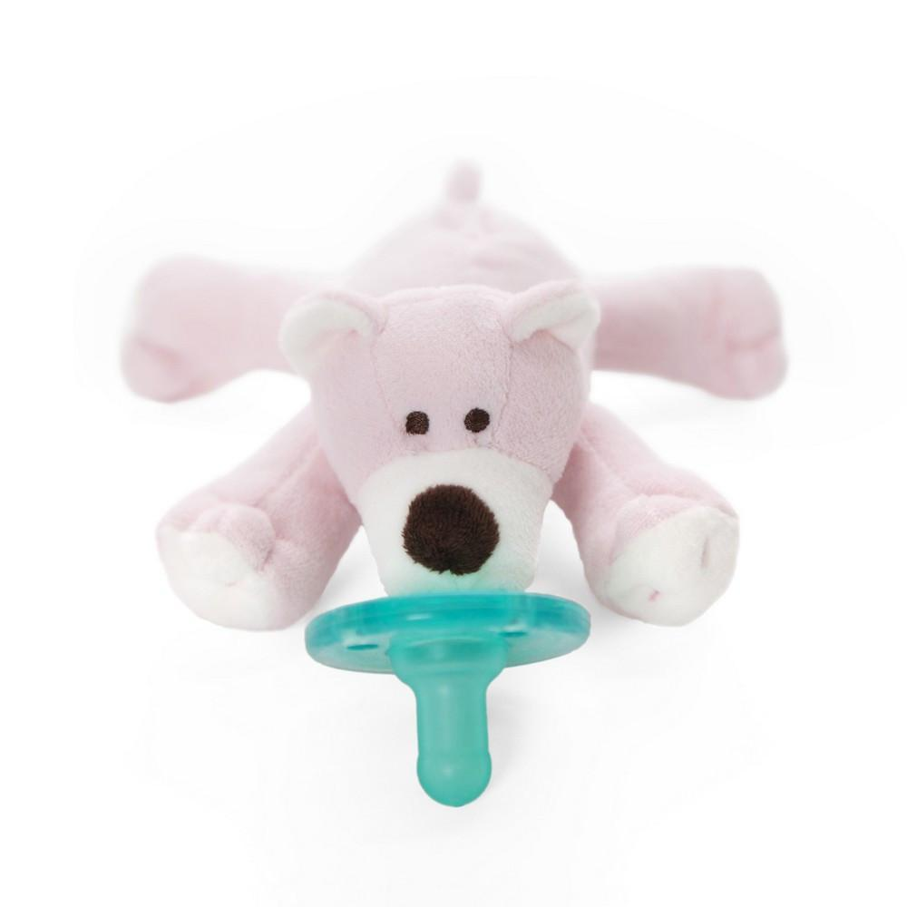 WubbaNub Pacifier Holder Pink Bear-Baby Care-Babysupermarket