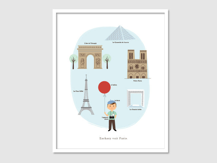 french boy art print