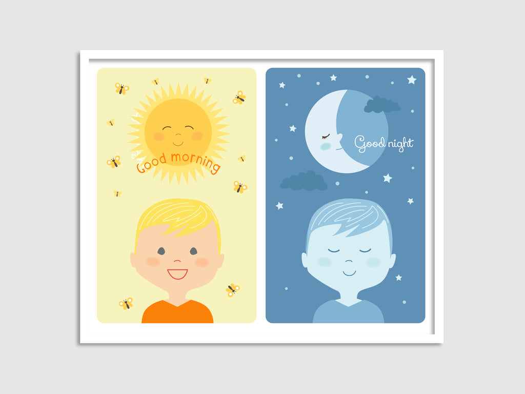 morning/night boy art print
