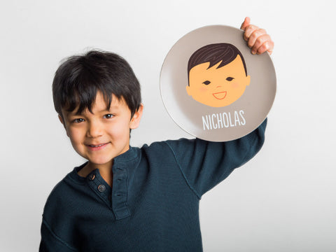 custom order - laughing boy plate