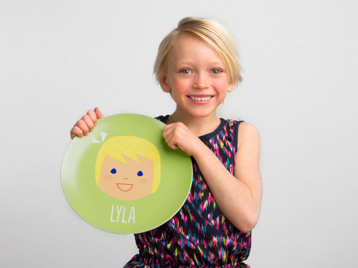 laughing girl plate