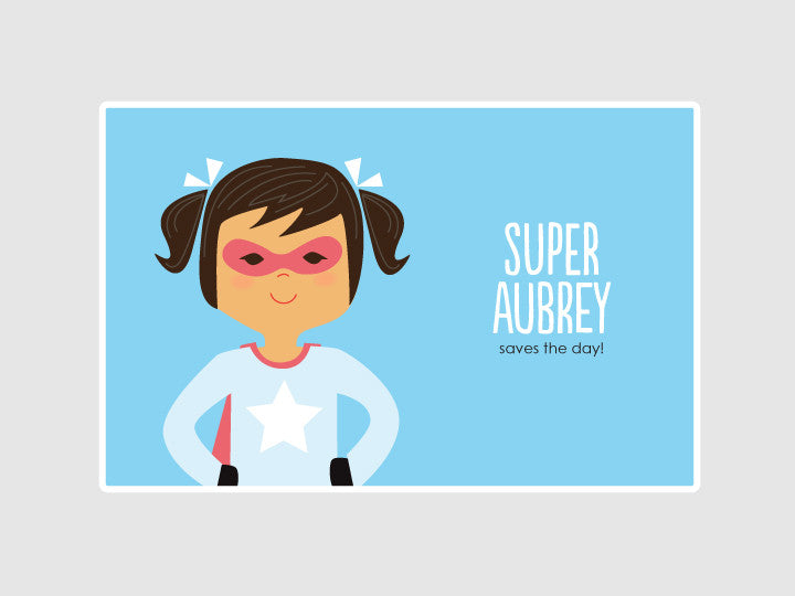 super girl placemat