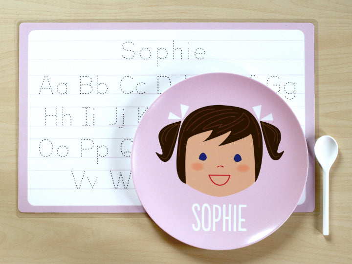 laughing girl placemat