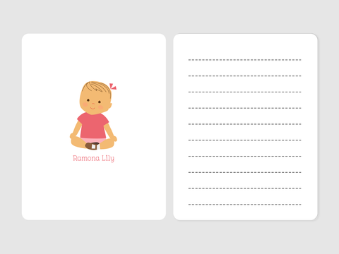 smiling baby note cards
