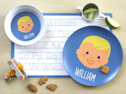 laughing boy mealtime set