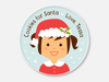 cookies for santa plate :: girl