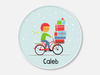 new! holiday plate :: bicycle boy