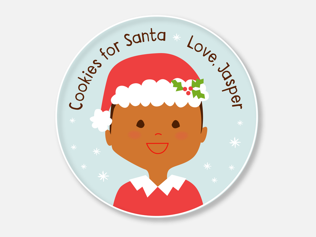 cookies for santa plate :: boy