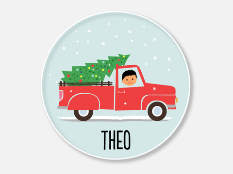 christmas tree truck :: boy