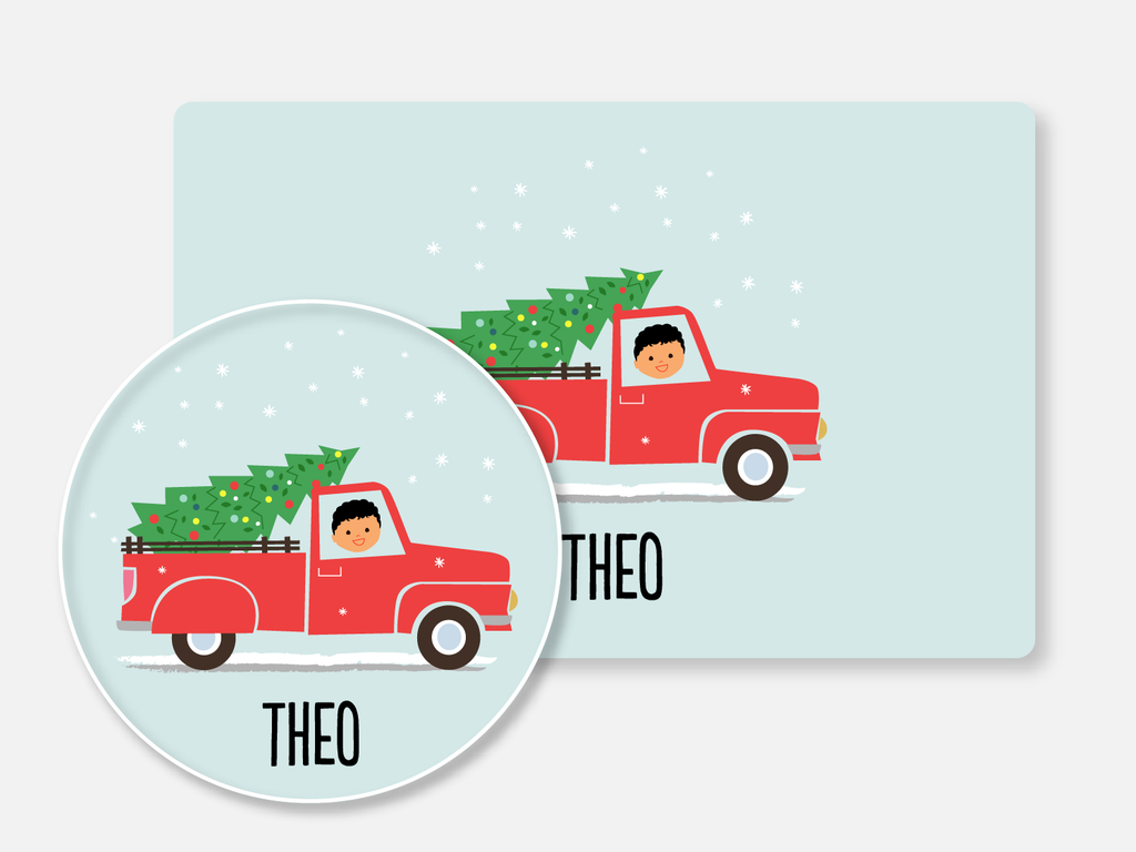 mealtime set :: christmas truck boy