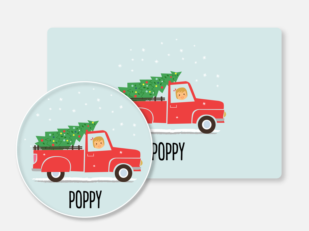 mealtime set :: christmas truck girl