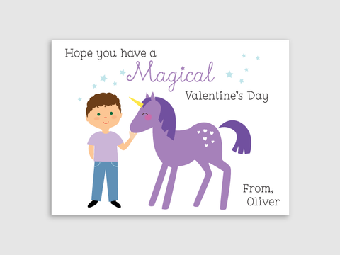 valentines - unicorn - boy