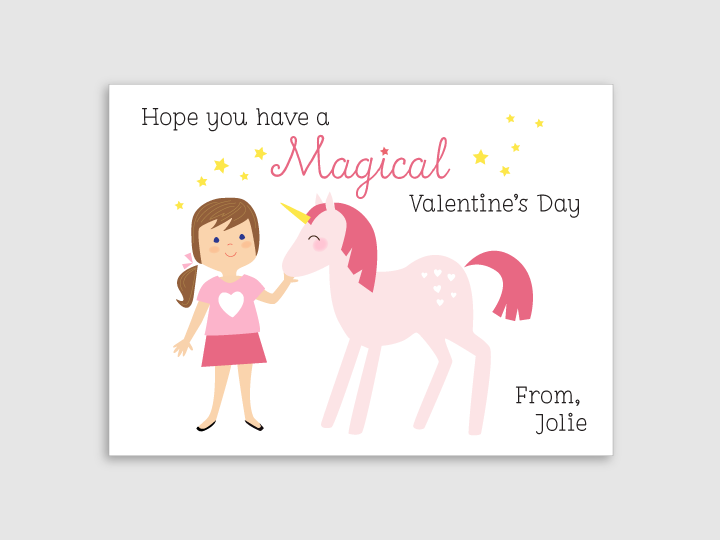 valentines - unicorn - girl