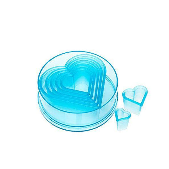 ATECO Polycarbonate Heart Cutters (set of 7)