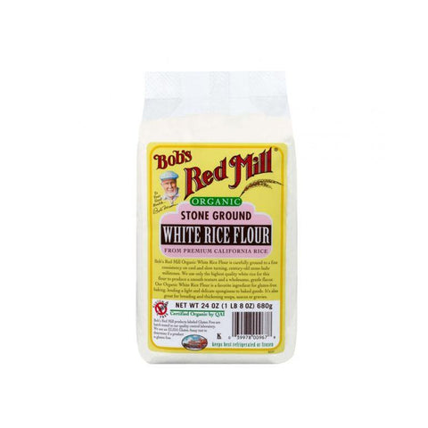 BOB'S RED MILL Organic White Rice Flour, 680g