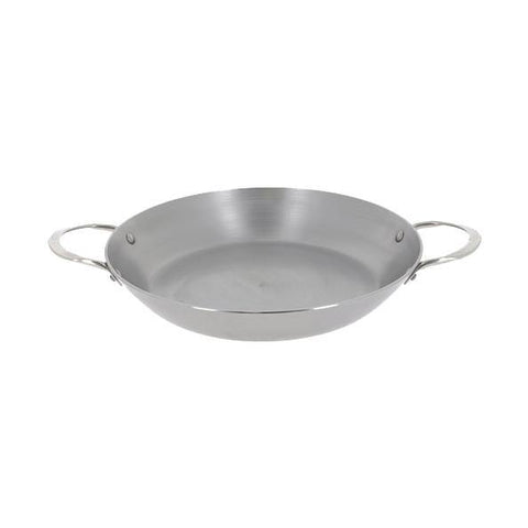 DE BUYER Mineral B Paella Pan with 2 Riveted S/S Handles