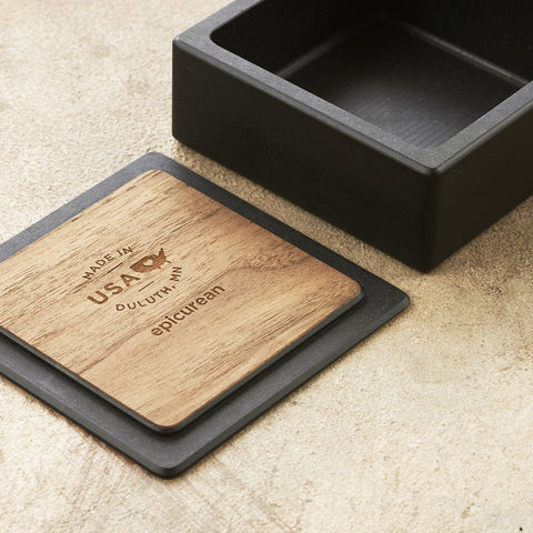 EPICUREAN Solid Wood Fiber Salt Box