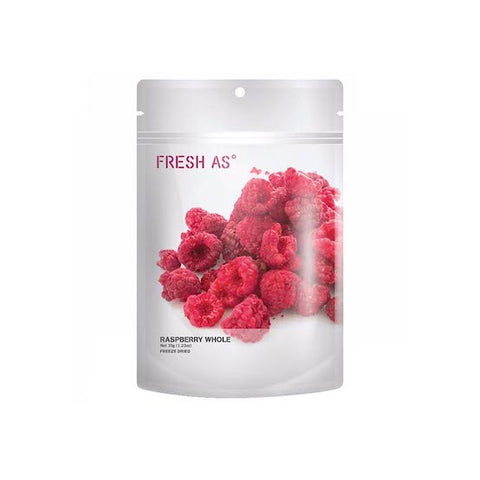 FRESH AS Freeze Dried Whole Raspberries, 35g