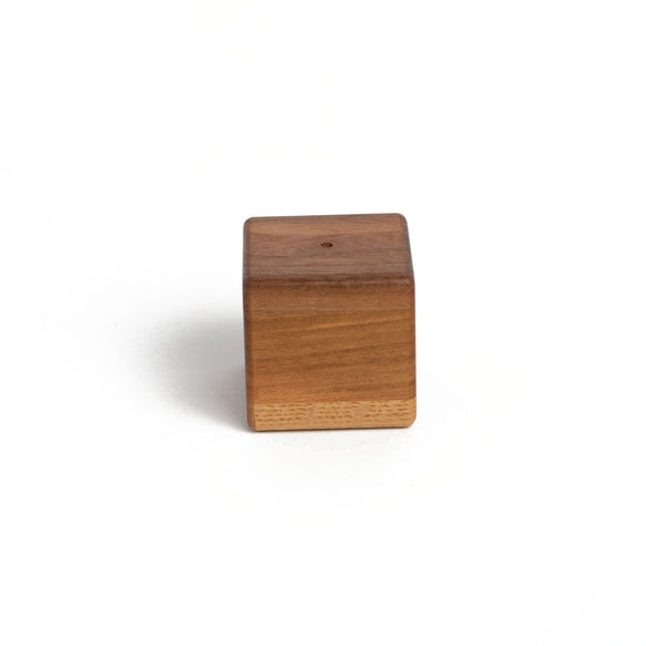 GUSTA SUPPLIES Artisan Wood Pin Holder Cube Block