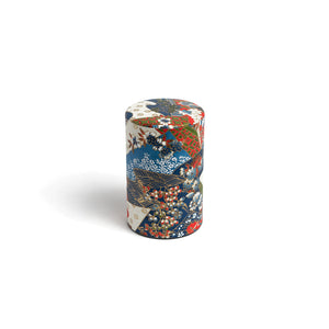 GUSTA SUPPLIES Japanese Tea Can with Metal Internal Lid, Collage