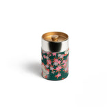 GUSTA SUPPLIES Japanese Tea Can with Metal Internal Lid, Deep Green