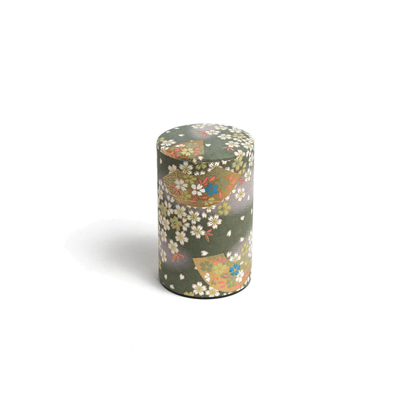 GUSTA SUPPLIES Japanese Tea Can with Metal Internal Lid, Moss